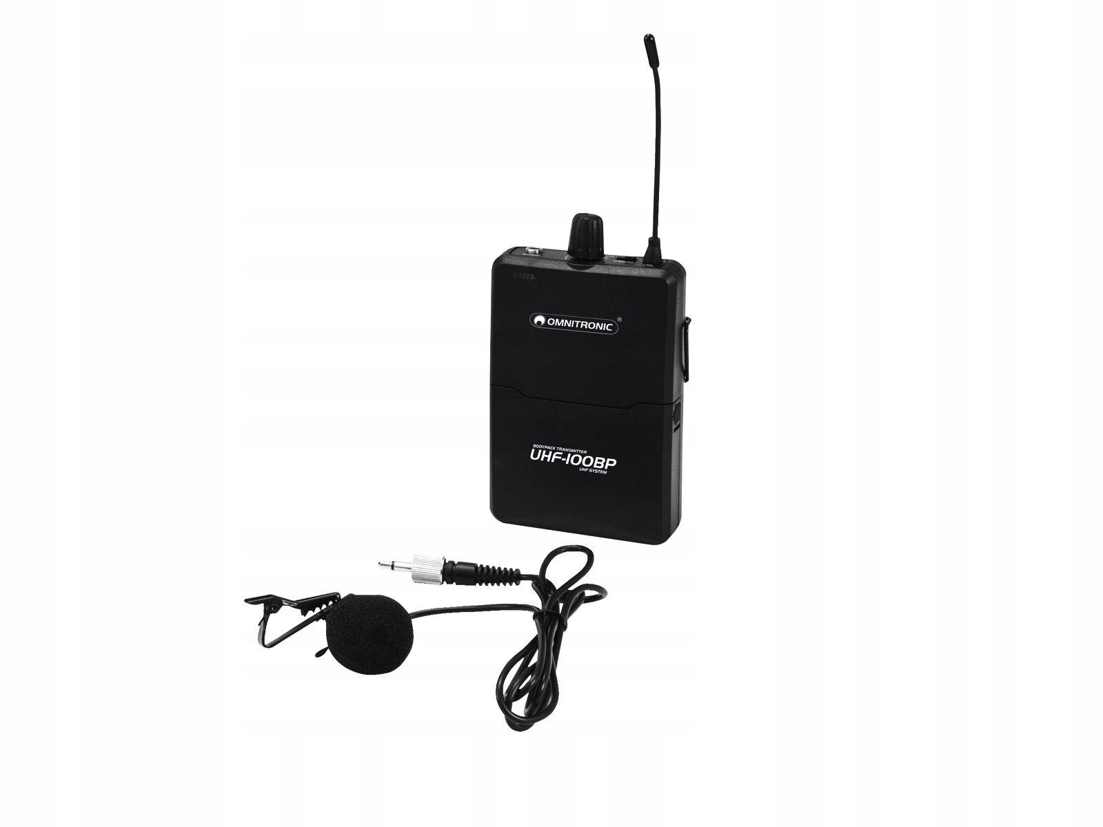 Omnitronic UHF-100 BP BodyPack / Vysielač 823.5MHz