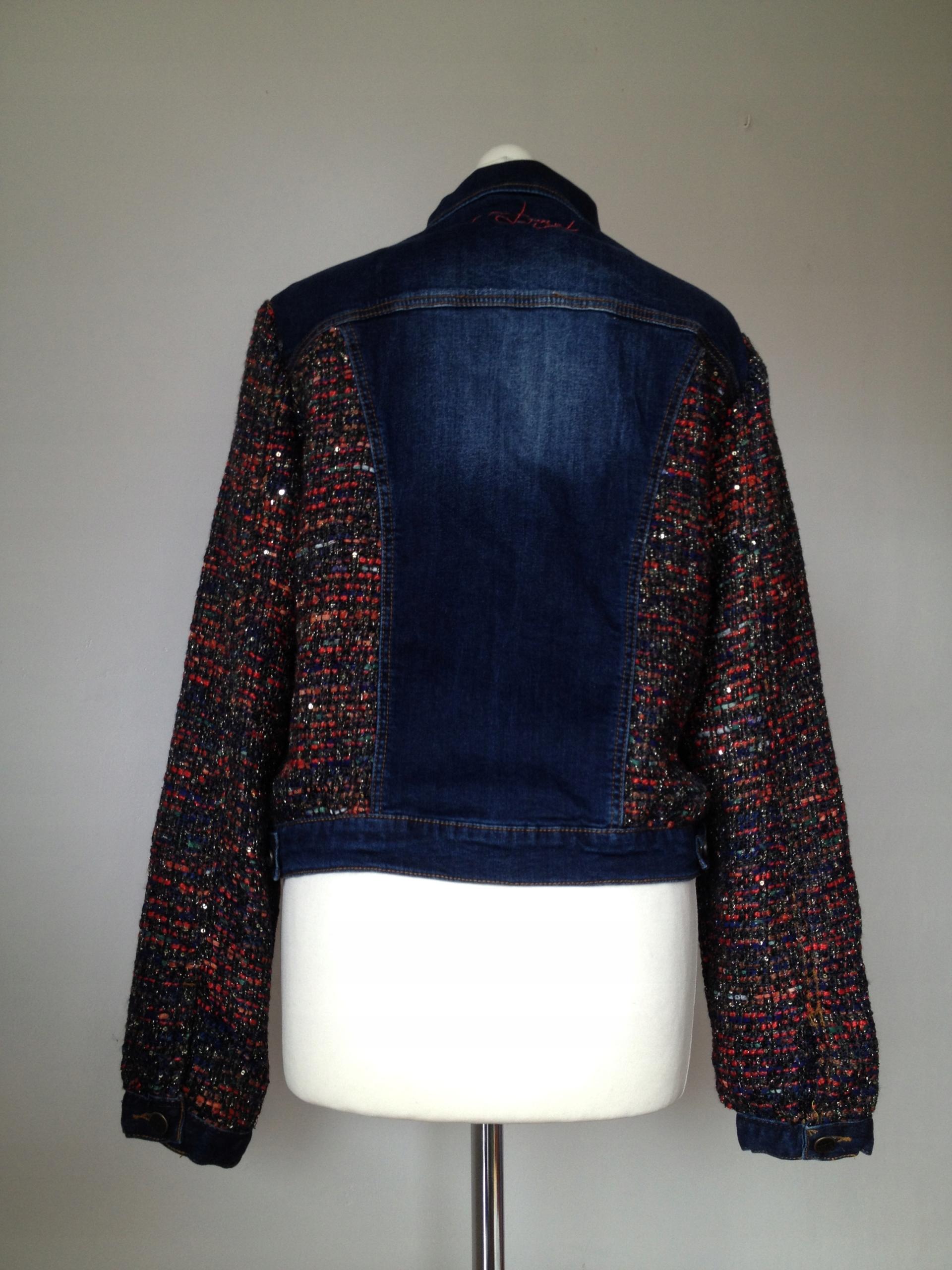 DESIGUAL -świetna KURTKA jeans OBŁĘDNA - 42 (XL) -