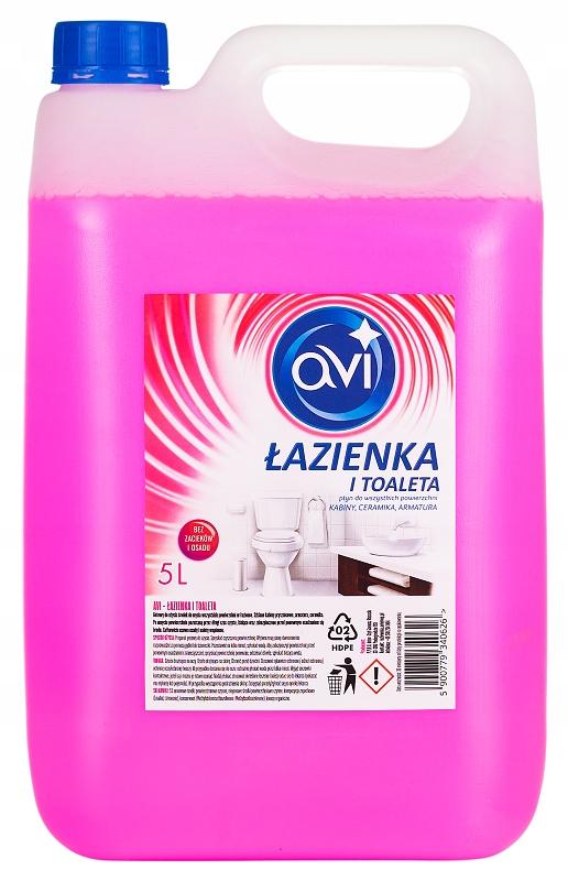 Жидкость для мытья ванных комнат и туалета AVI 5 л