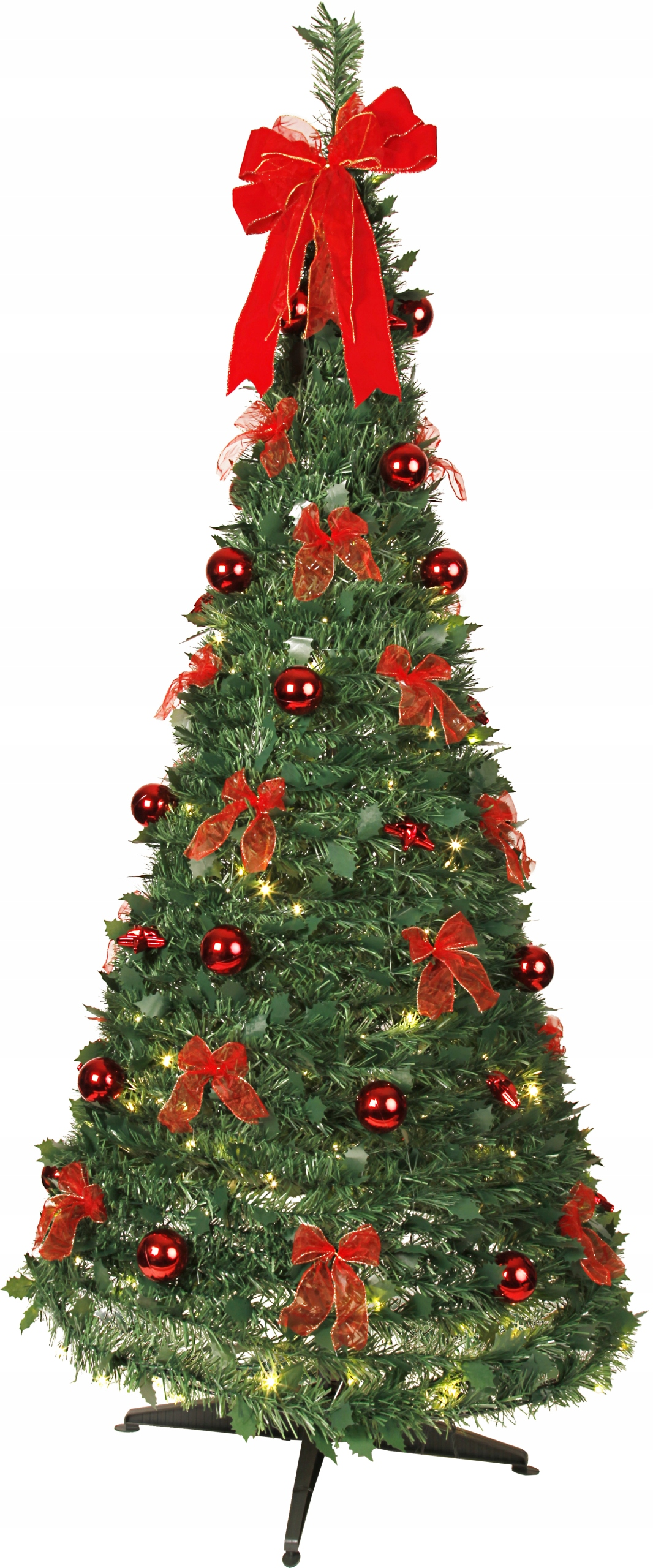 Vianočný stromček KUŽEL 185 cm zdobený osvetlením