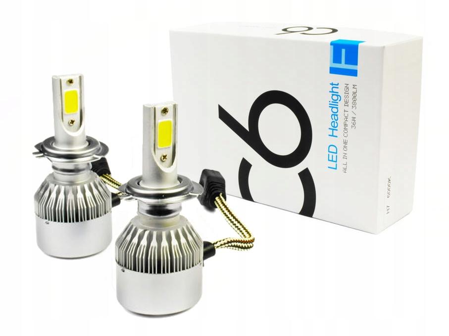 Item A set of LED COB H7 C6 72W 7600 LM lamp DAY/NIGHT
