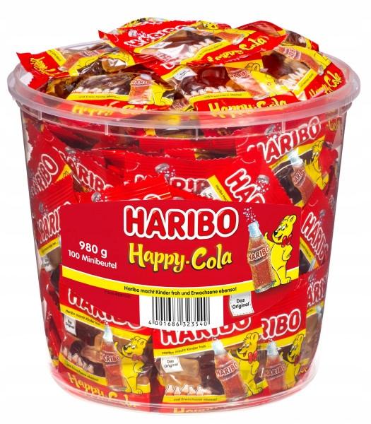 Haribo Cola Gummies в бутылках, 100 мини-упаковок