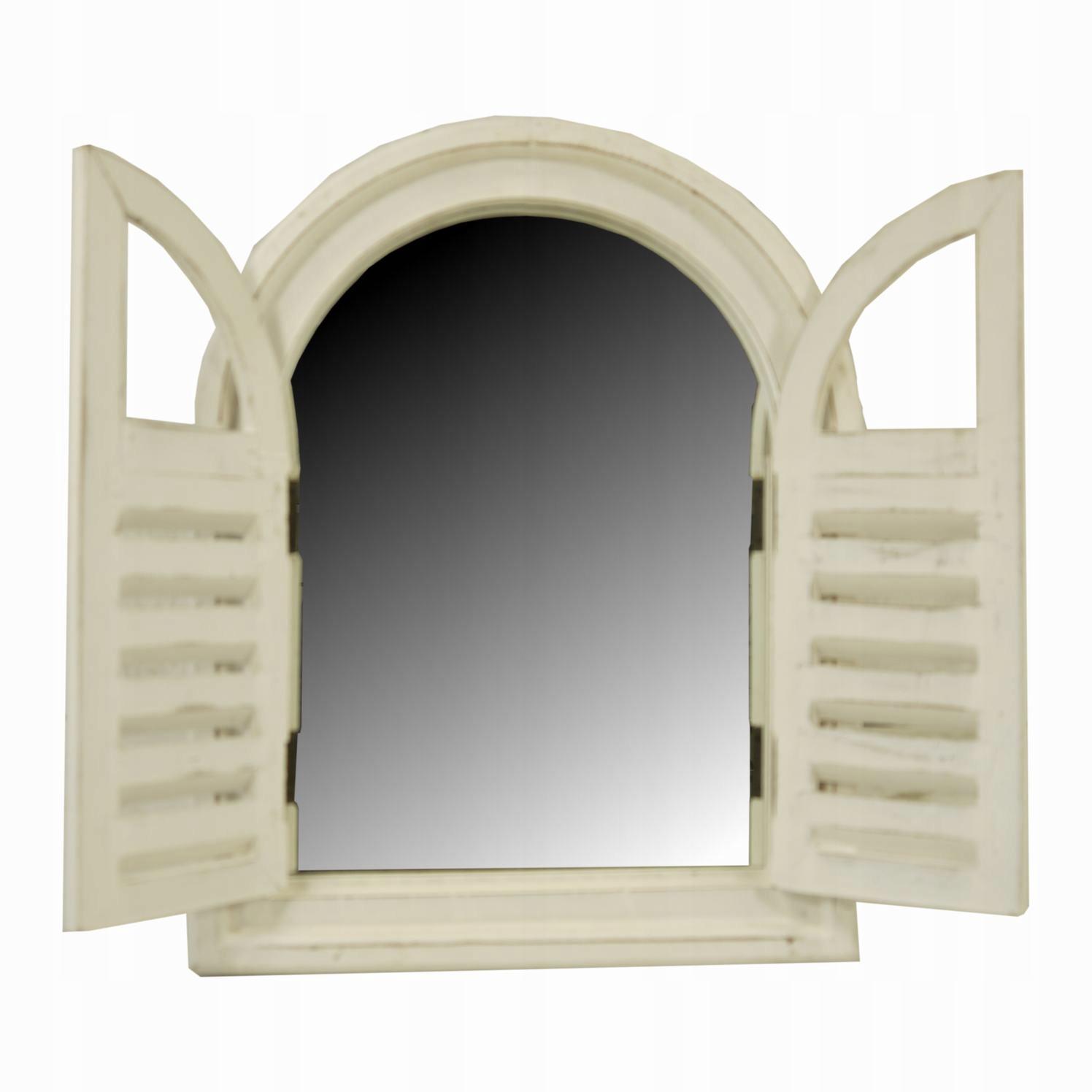 zrkadlo okenice otvorené biela prívesok VINTAGE