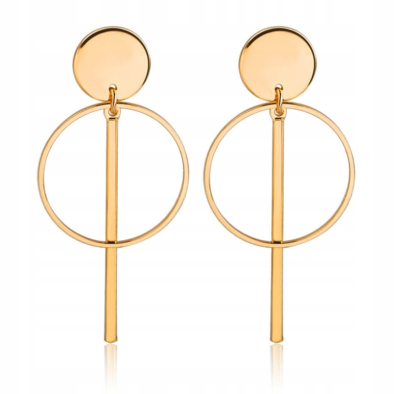 Item Earrings hanging wheel wheel round gold DROPS