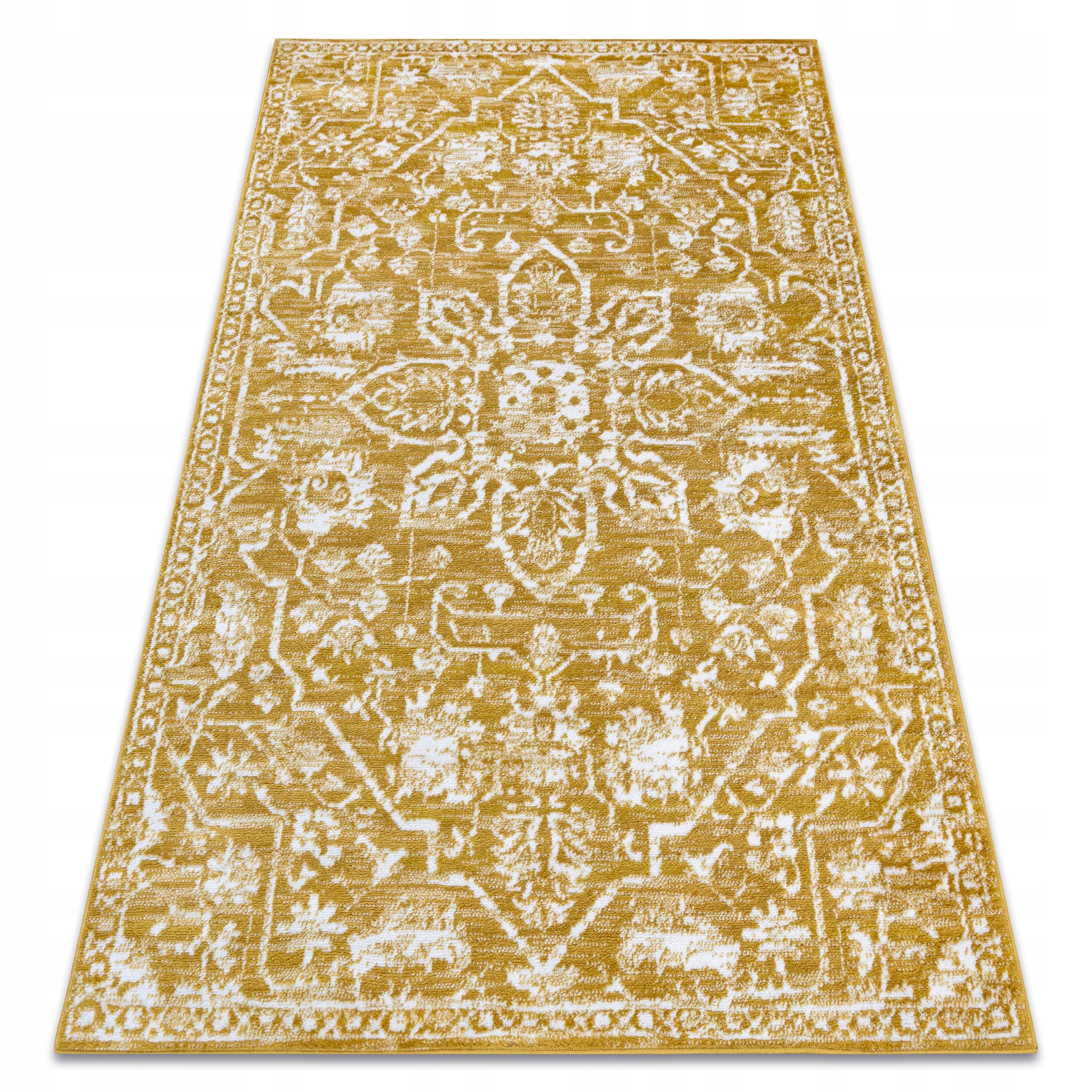 KOBEREC RETRO 180x270 cm VINTAGE Zlatý krém #GR3413