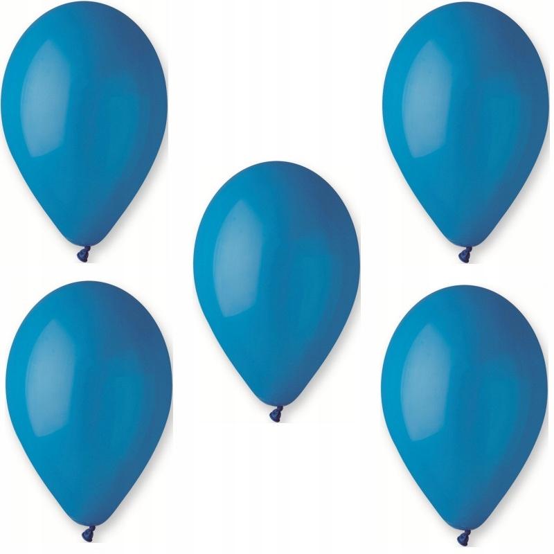 Голубые воздушные шары в пастельных тонах Gemar G90 - 10 шт.