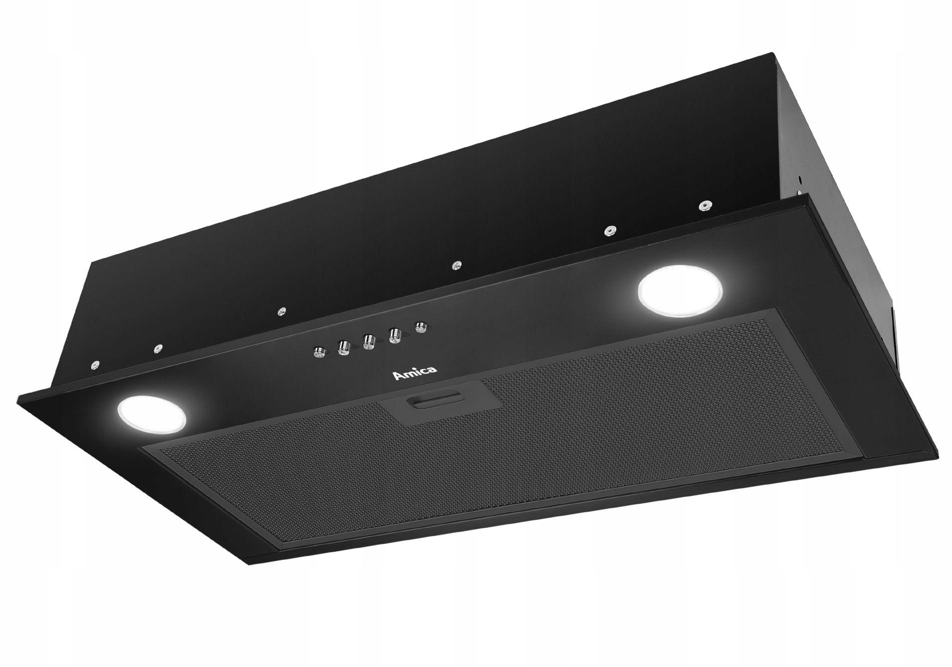 Кухонная ВЫТЯЖКА AMICA для установки 60 см ЧЕРНЫЙ LED