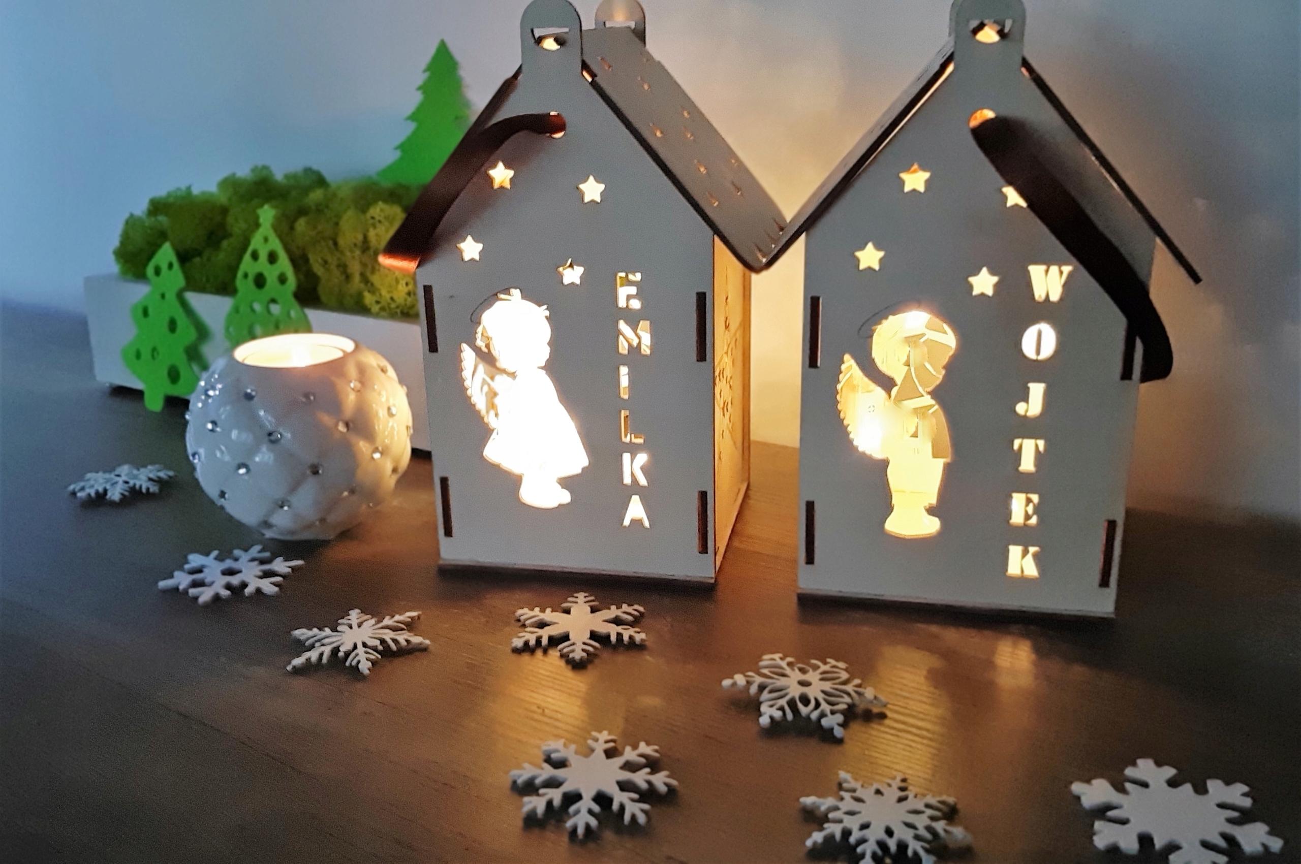 Lampion drewniany imię dziecka prezent na święta Płeć Chłopcy Dziewczynki