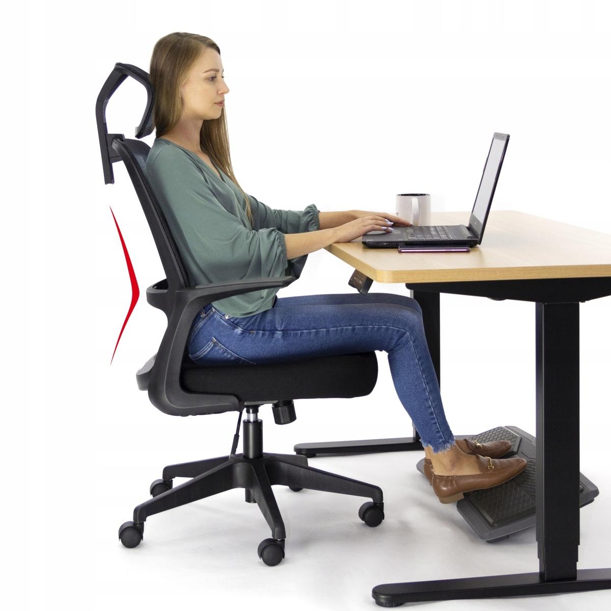 Ергономічний офісний стілець Поворотне крісло AMO-90 Ширина меблів - 64 см