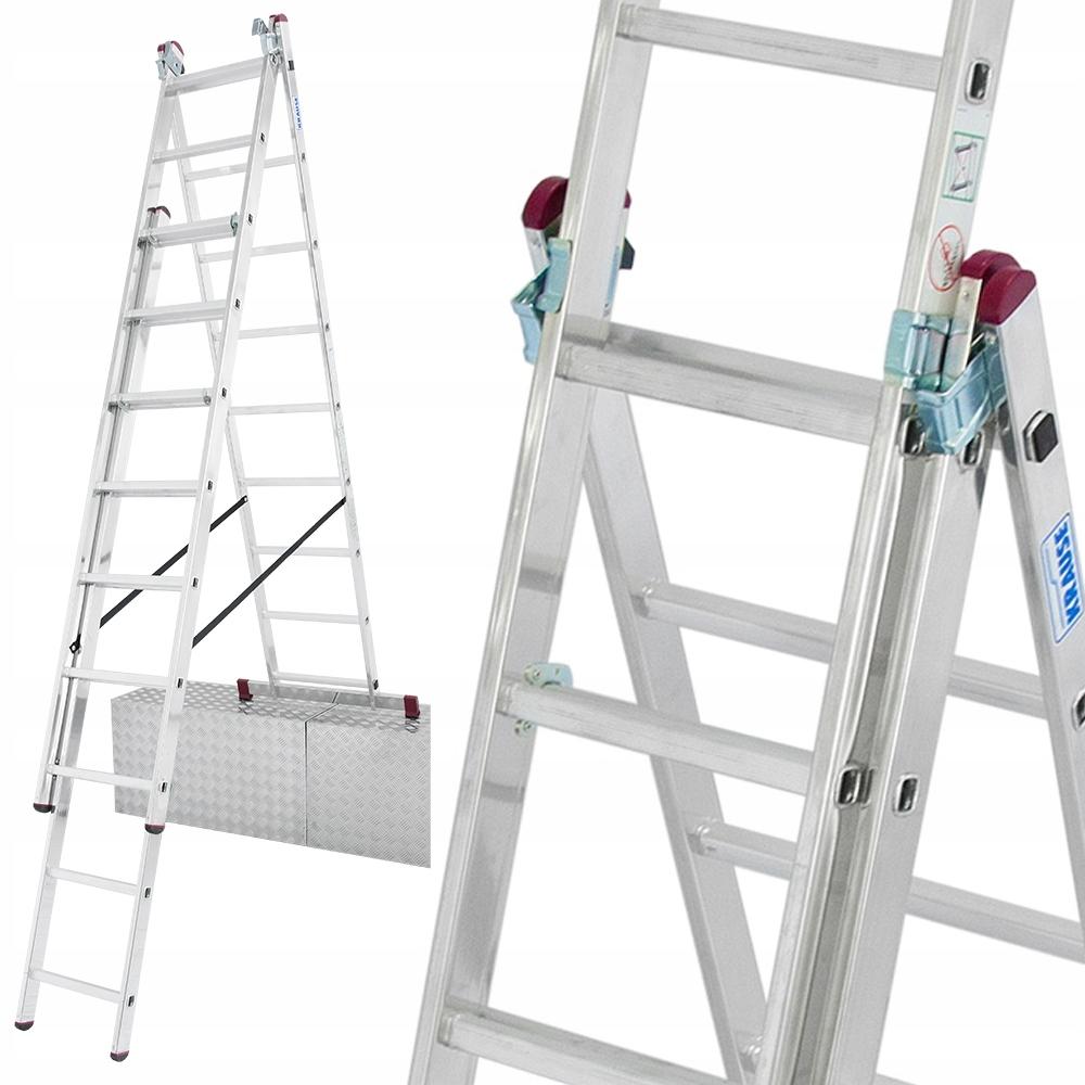 Лестница алюминиевая KRAUSE CORDA 3x9 6.2м для лестницы