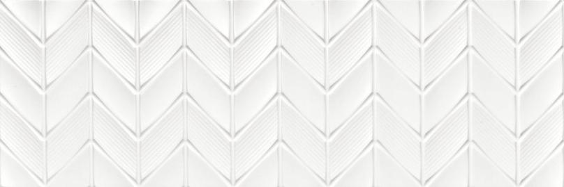 Płytki Białe 3d Strukturalne Wypukłe Chevron 90x30 8687253591 Allegro Pl