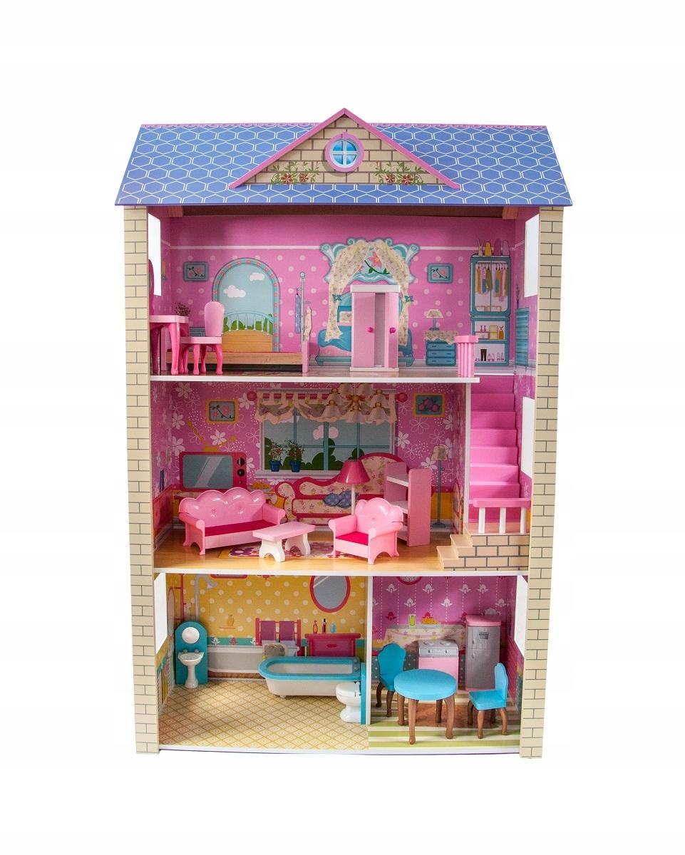 Drevený domček pre bábiky 3 poschodia pre LOL ibarbi