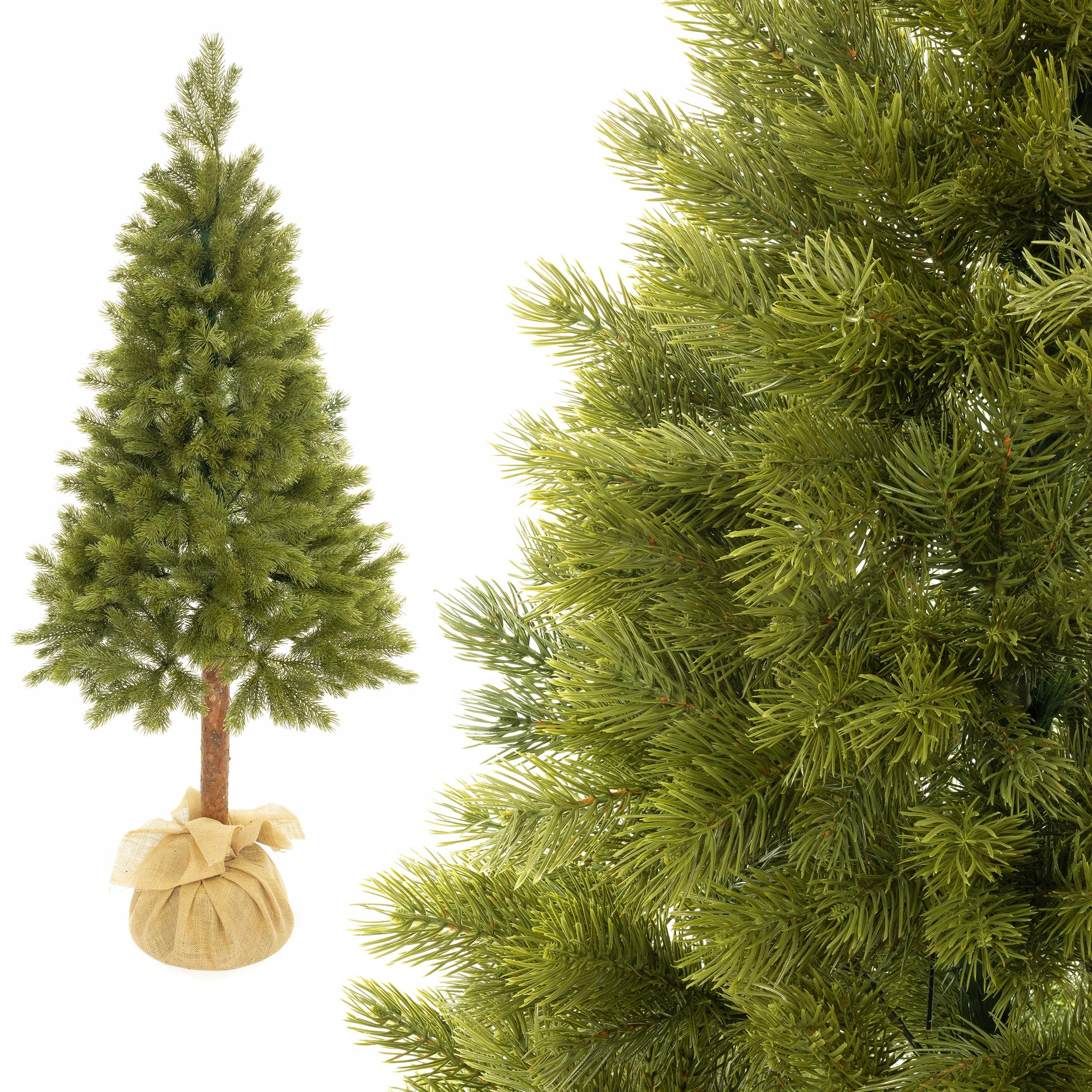 Umelý vianočný stromček, 100% PE, 160 cm PE, ako naživo