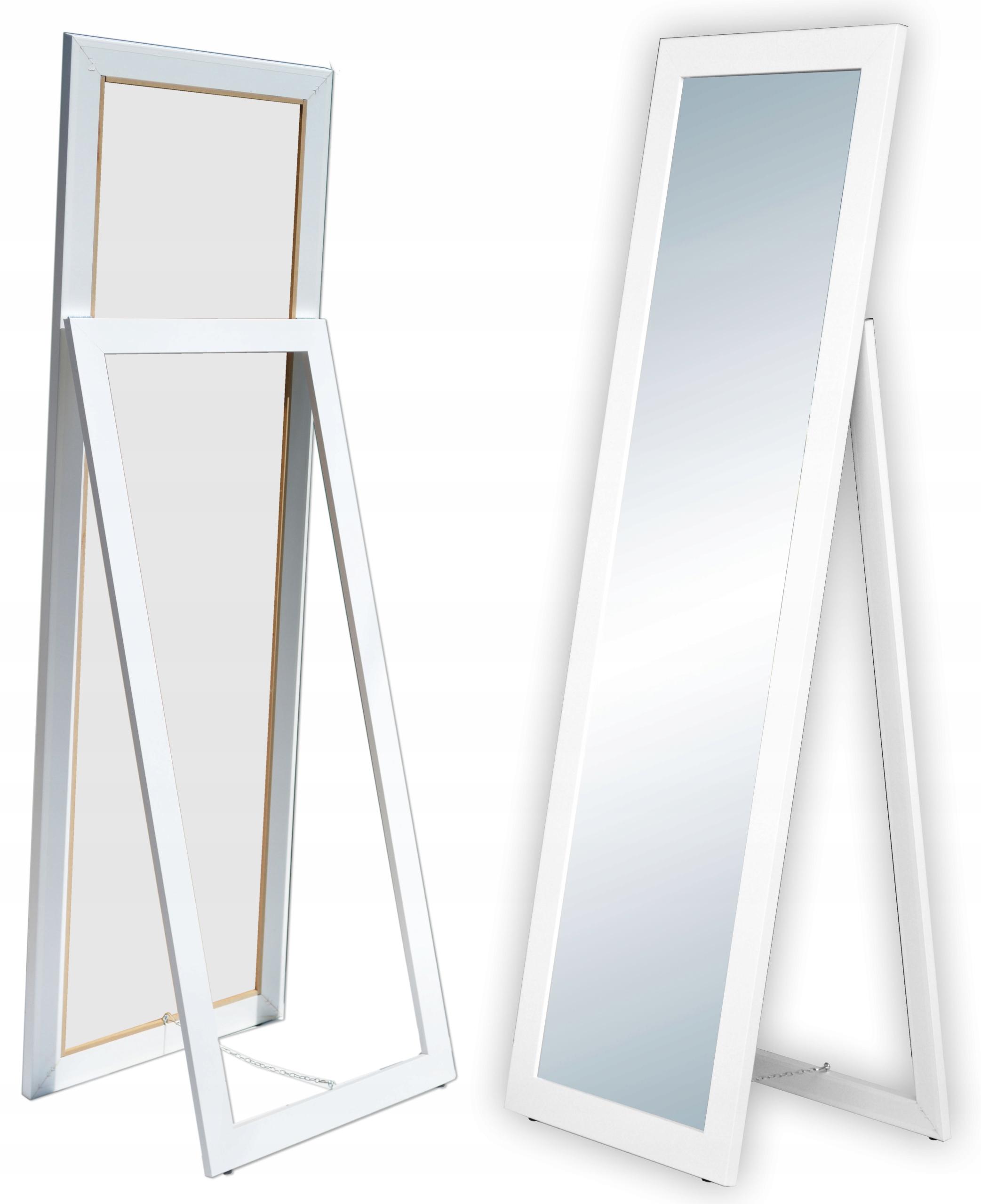 БОЛЬШОЕ Зеркало в раме, СТОЯЩИЕ 160x50 белый MIX БЕСПЛАТНО*