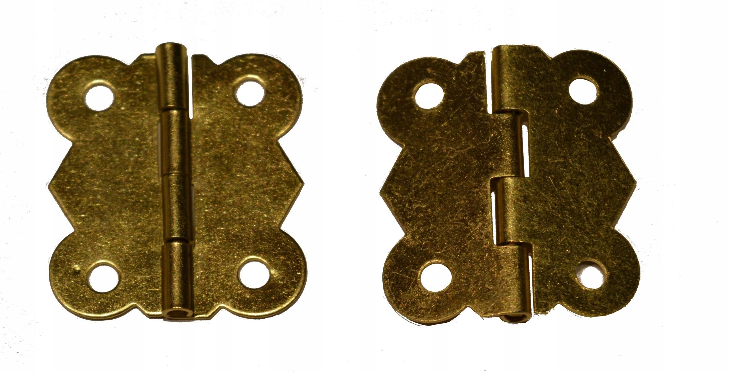 Zawias metalowy złoty do szkatułki pudełka