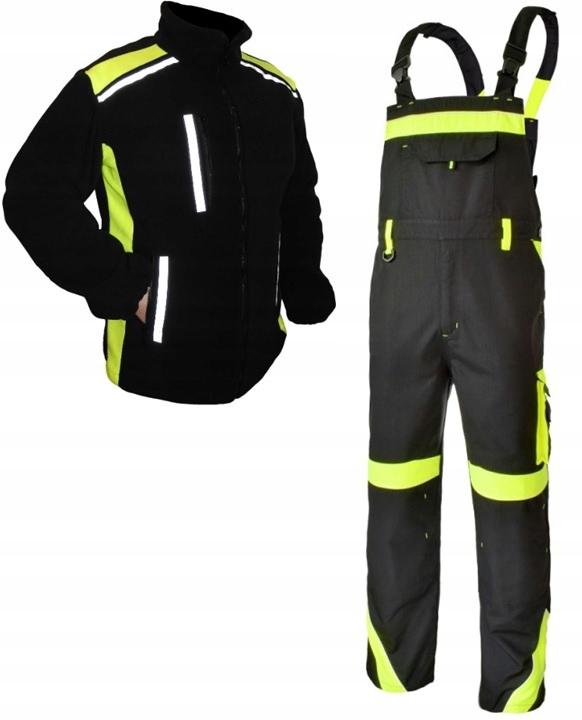 одежду светоотражающие рабочие брюки и толстовка года. L