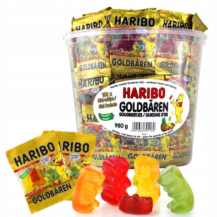 Haribo Gold Bears Jellyfish 100 мини-упаковок