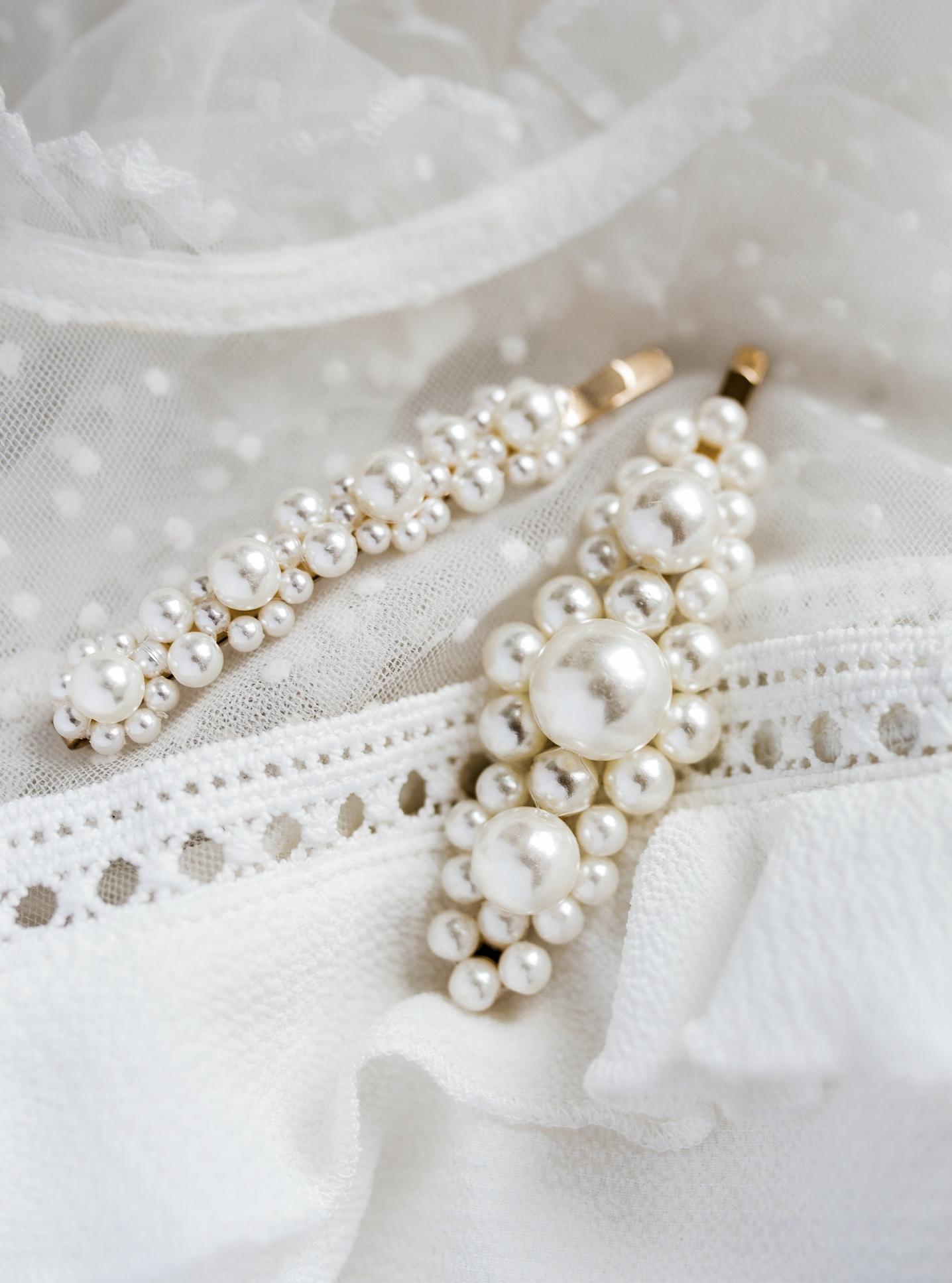 Заколка заколка для волос золото, драгоценные камни, жемчуг, свадьба