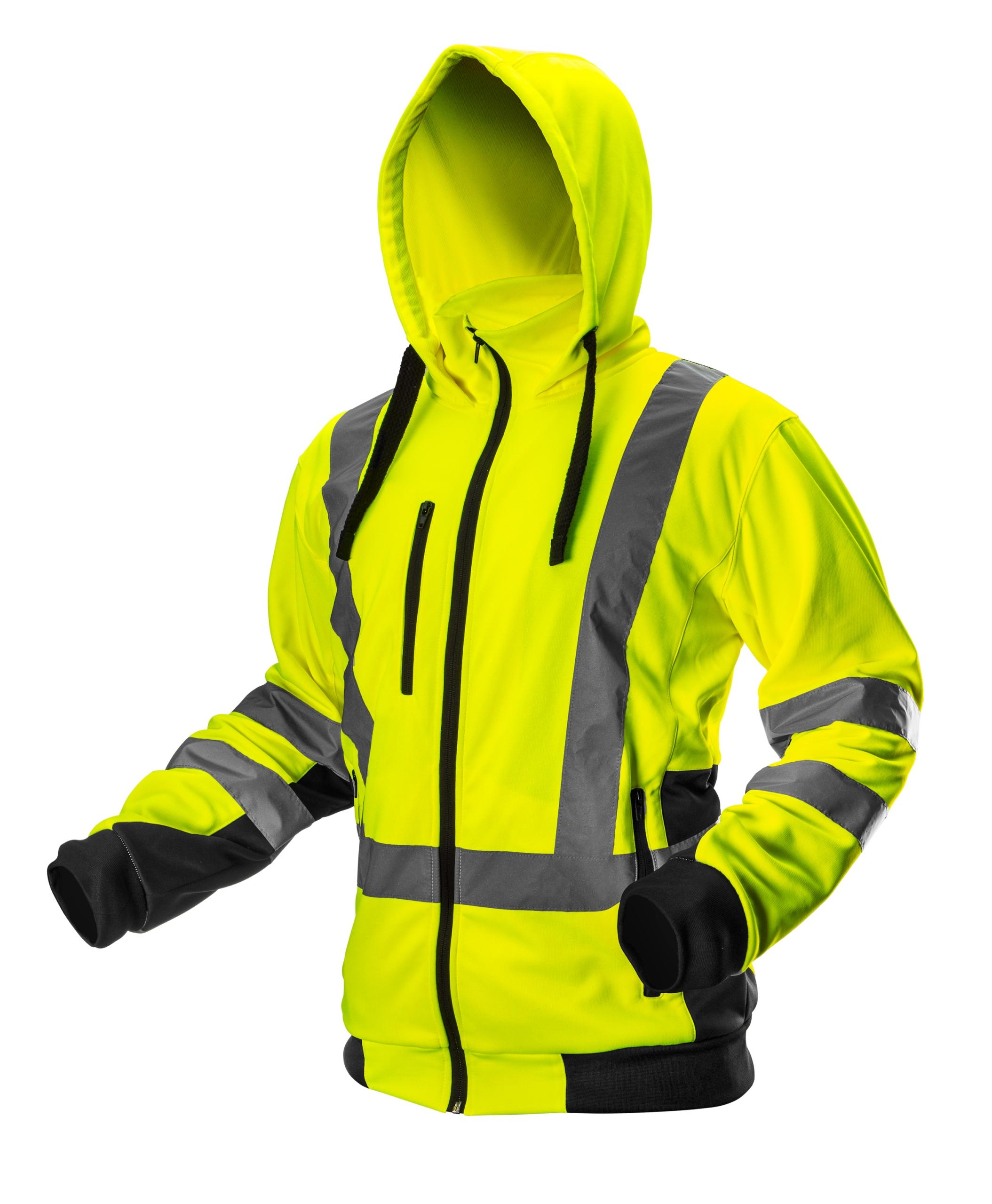 NEO Толстовка с капюшоном флис куртка рабочая сигнальный желтый