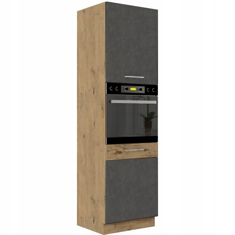 Высокий кухонный шкаф Ovido GRAPHITE 60см * духовка