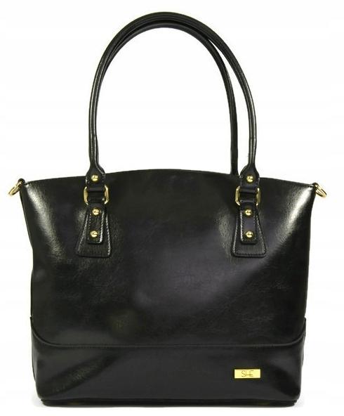 Čierna kožená taška shopperka vintage ONA