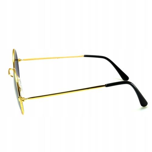 Okulary przeciwsłoneczne lenonki okrągłe ZŁOTE 8295439772