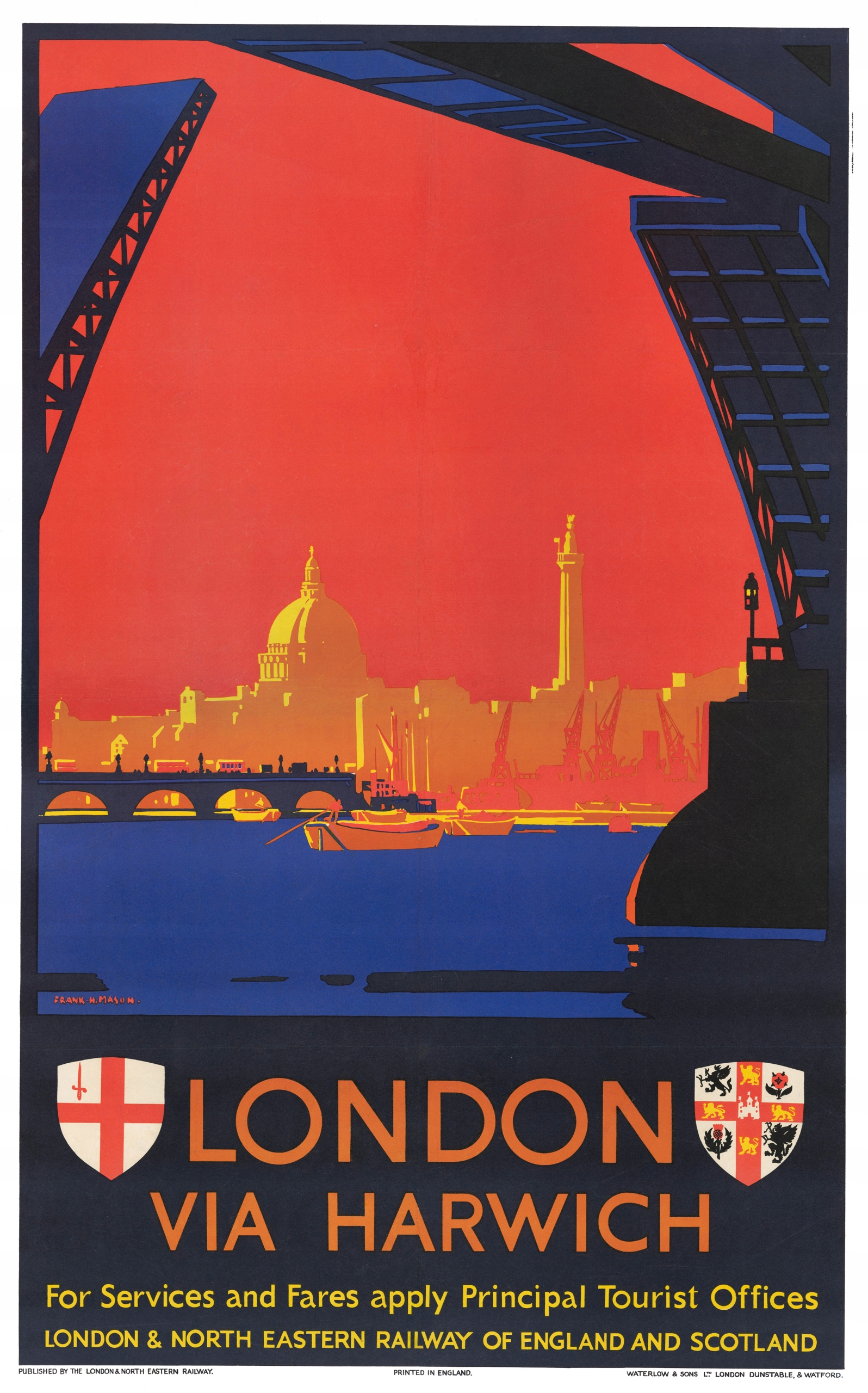 Item travel poster LONDON, England 61x40 cm