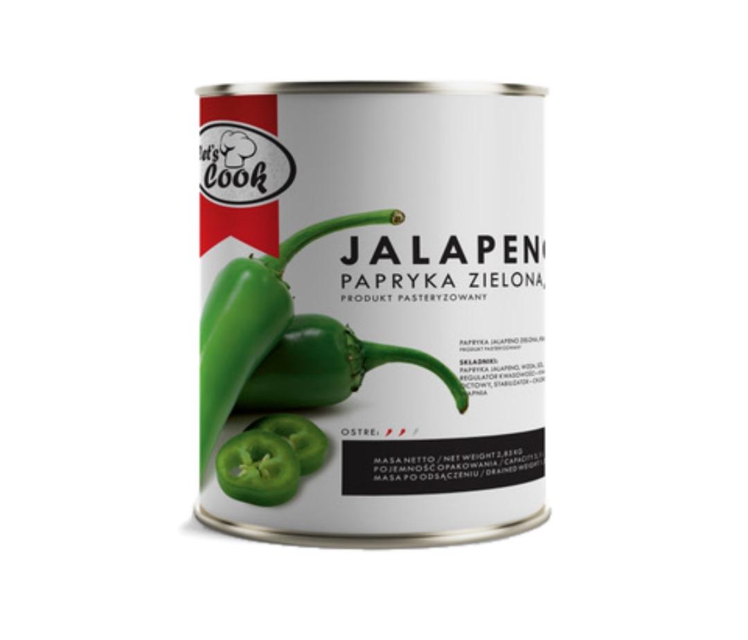 Papryka Jalapeno zielona ostra krążki 3000g
