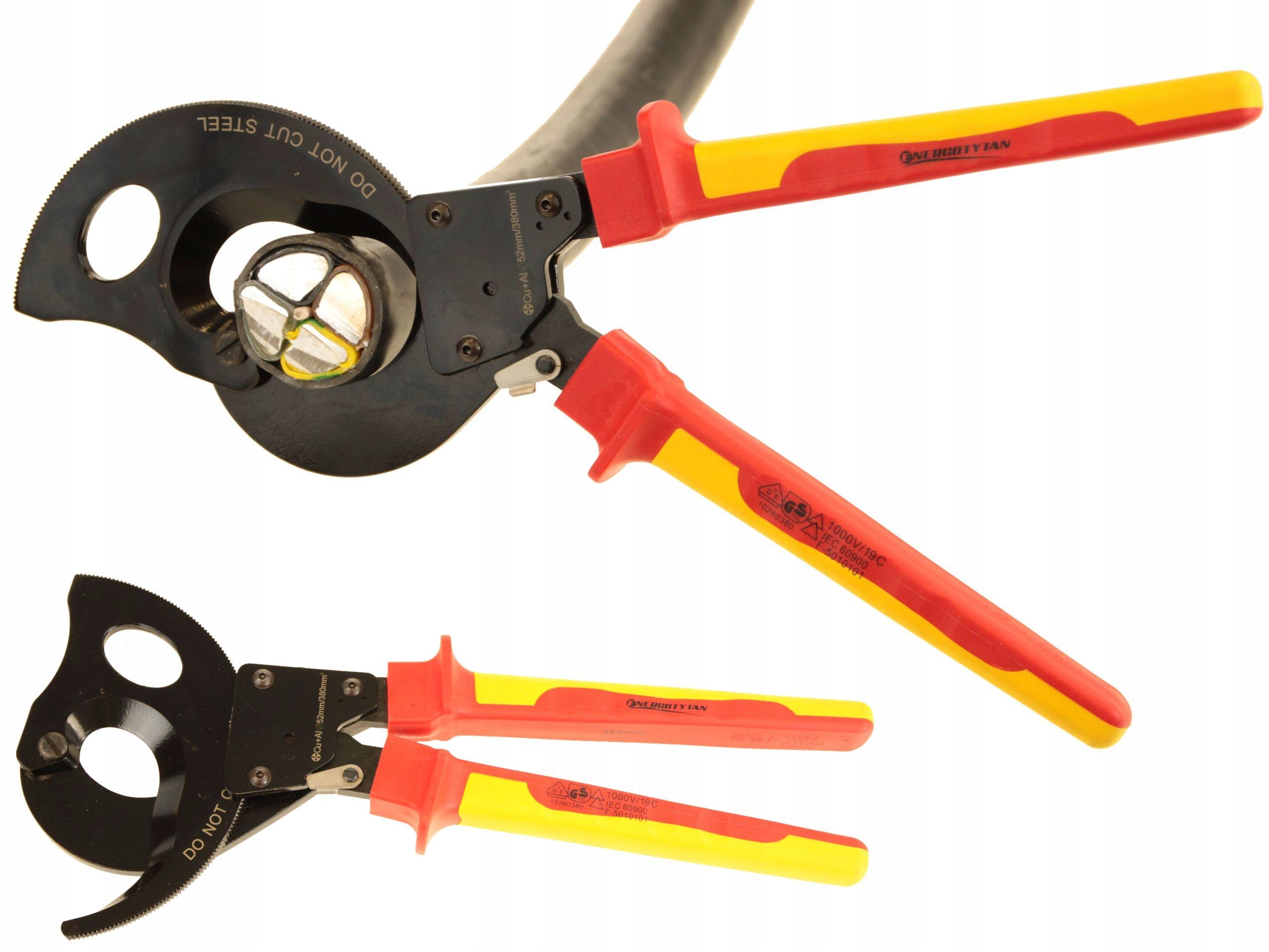 IZOLOVANÉ račňové rezačky na káble 380 mm2 -1000V