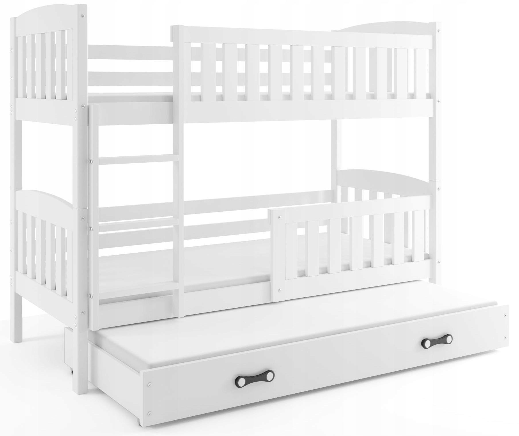 Łóżko piętrowe KUBUŚ 190x80 i Materace 3 osobowe