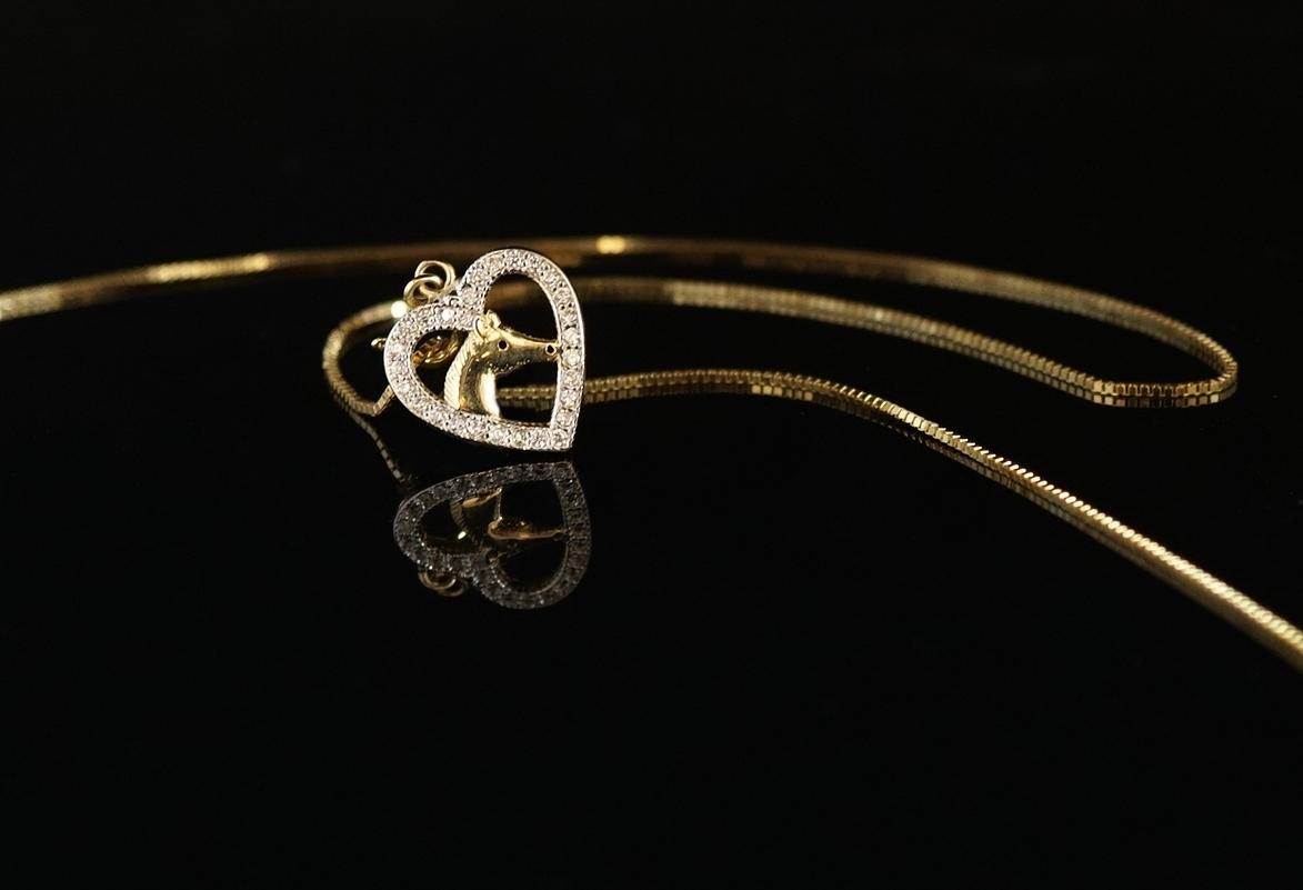 Gold 585 prívesok, prívesky, Srdce s Chlapec