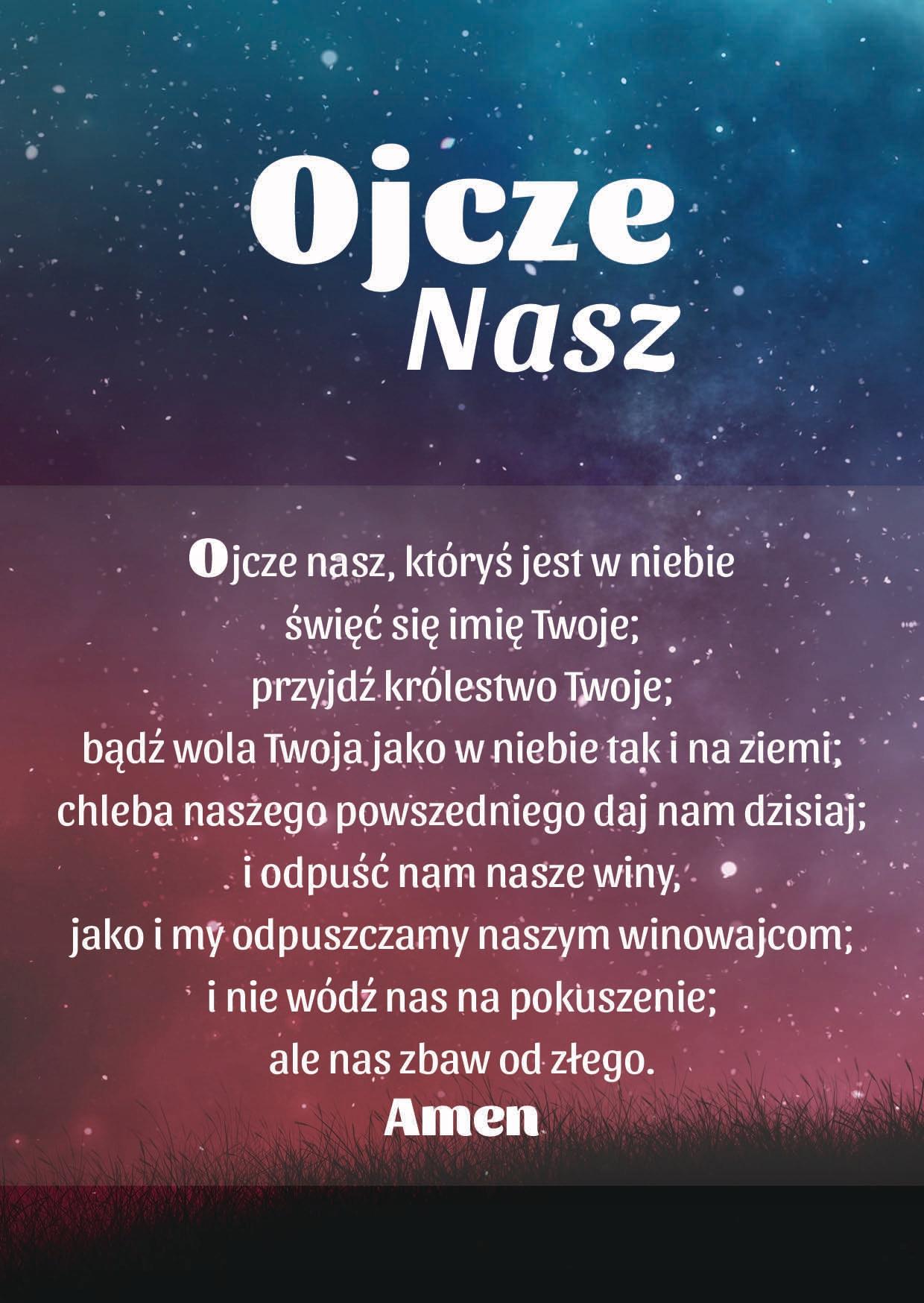 Modlitwa Ojcze nasz Modlitwy magnes na lodówkę A6 7783197969 - Allegro.pl
