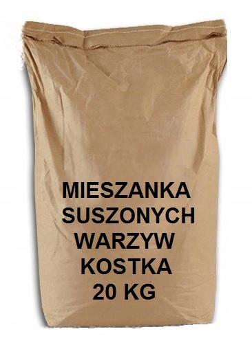SUŠENÁ ZELENINA, KOCKA, 20 KG