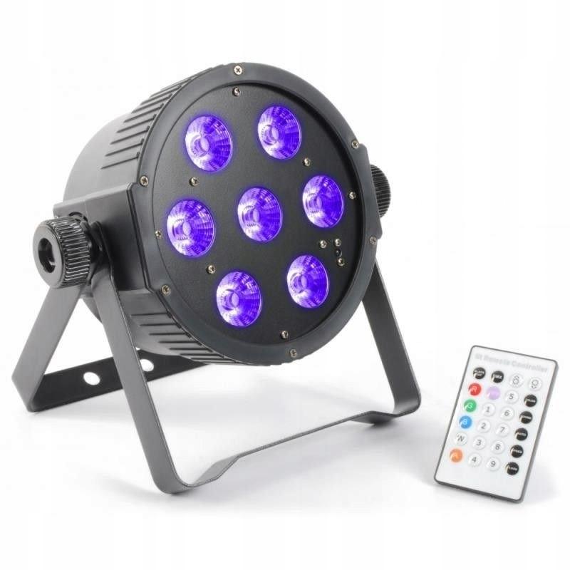 Silný ultrafialový RGBAW + UV DMX 7X18W GW. 3l