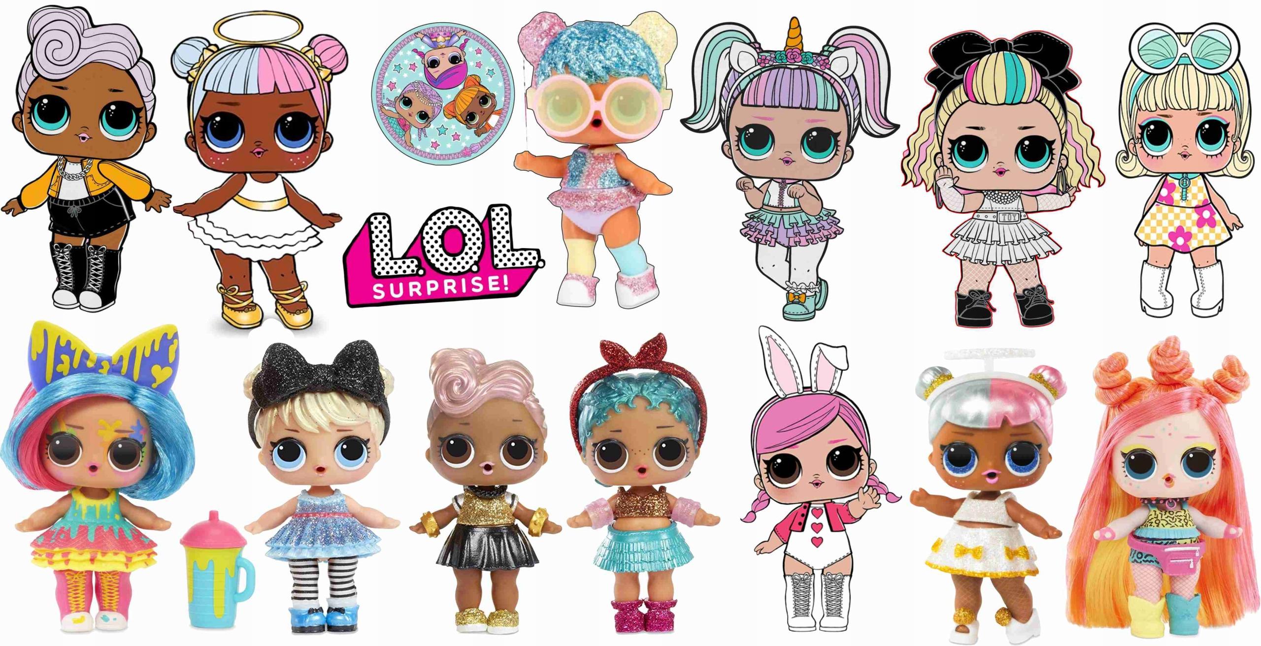 Nálepka na stenu Nálepka LOL bábiky L.O.L Suprise