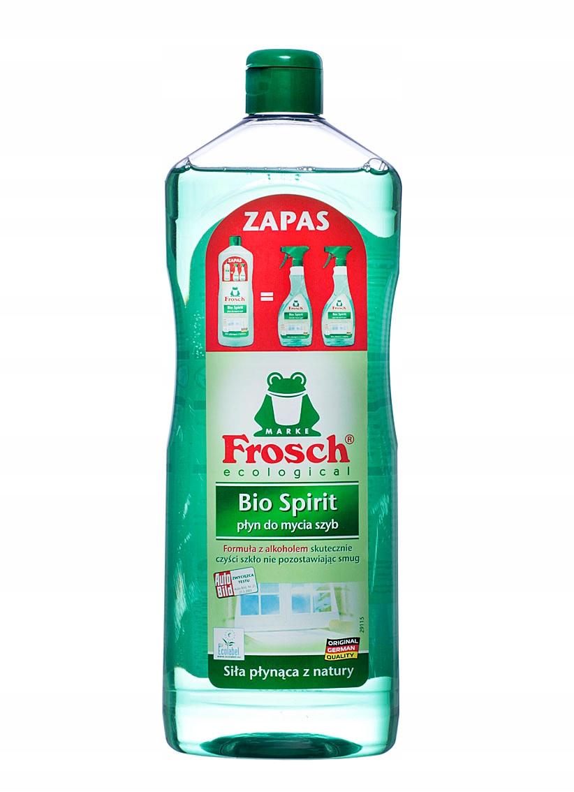 FROSCH ЭКО Жидкость для мытья стекол, 1000 мл Запас