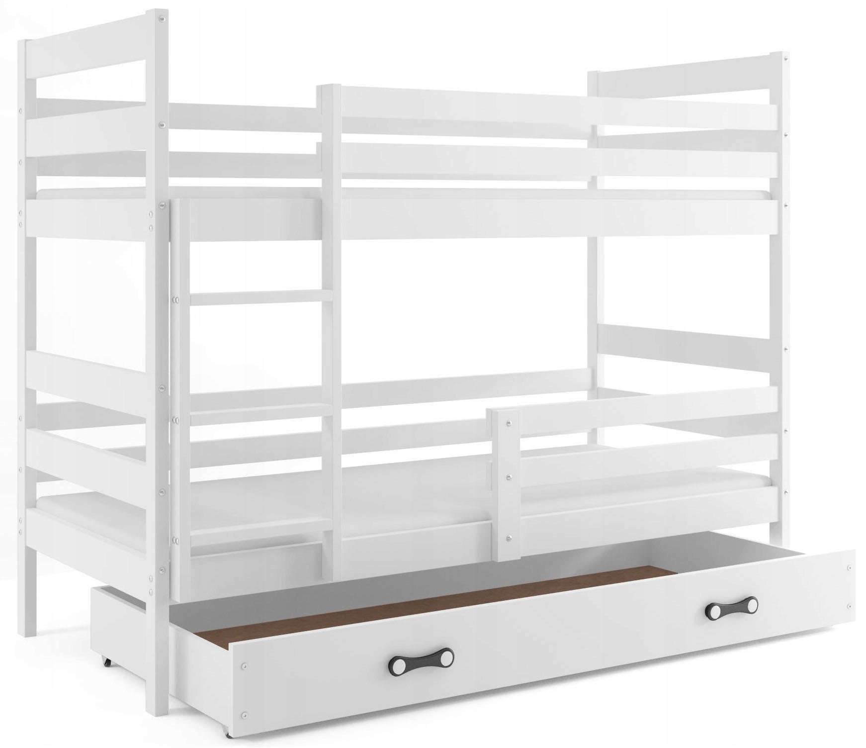 Łóżko JACEK piętrowe 190x80 dziecięce i BARIERKA