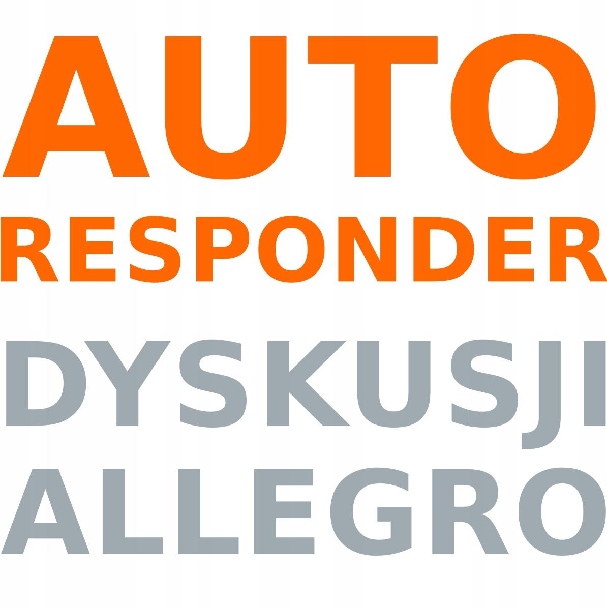 Autoresponder Allegro Automatyczne Odpowiedzi Sklep Komputerowy Allegro Pl