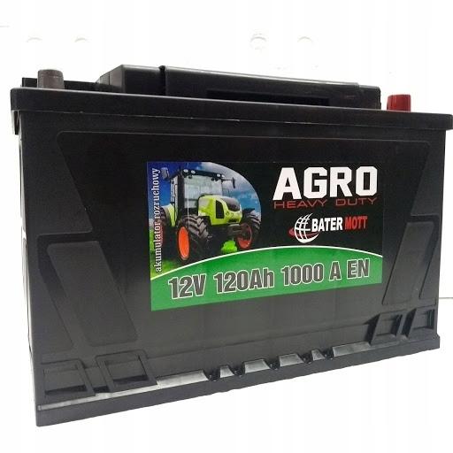 аккумулятор battermott агро 12v 120ah 1000a