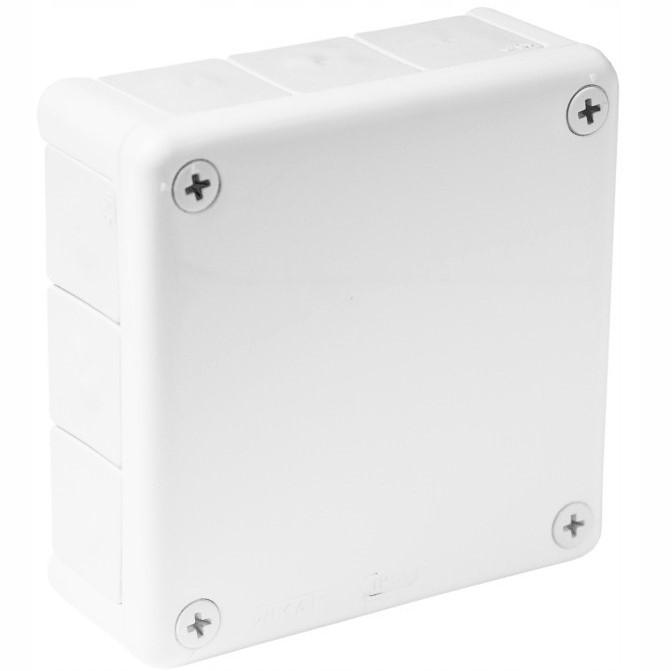 Puszka natynkowa hermetyczna biała 118x118 IP55