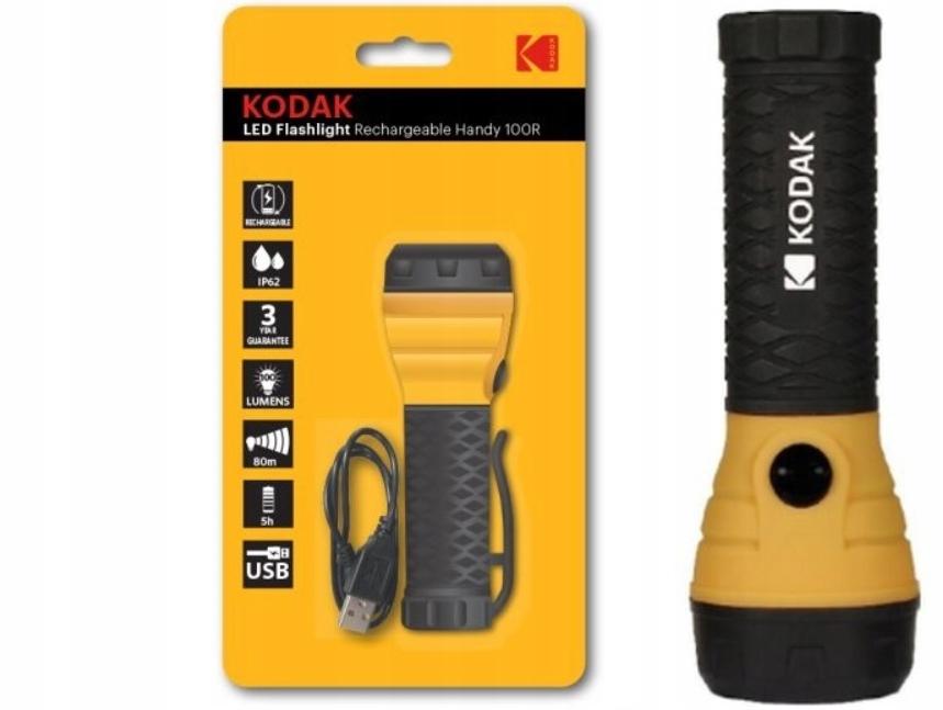 Купить СВЕТОДИОДНЫЙ ФОНАРИК 100LM Kodak Handy 100R  ЗАРЯДКА ВЫНОСНОЙ на Eurozakup - цены и фото - доставка из Польши и стран Европы в Украину.