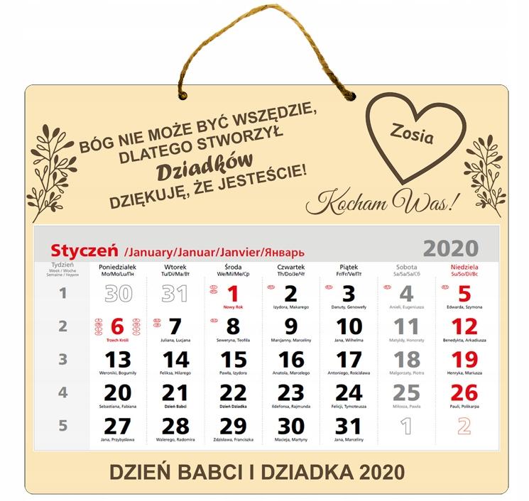 ПОДАРОЧНЫЙ ДЕНЬ ГРАНД ГРАНД-КАЛЕНДАРЬ 2020