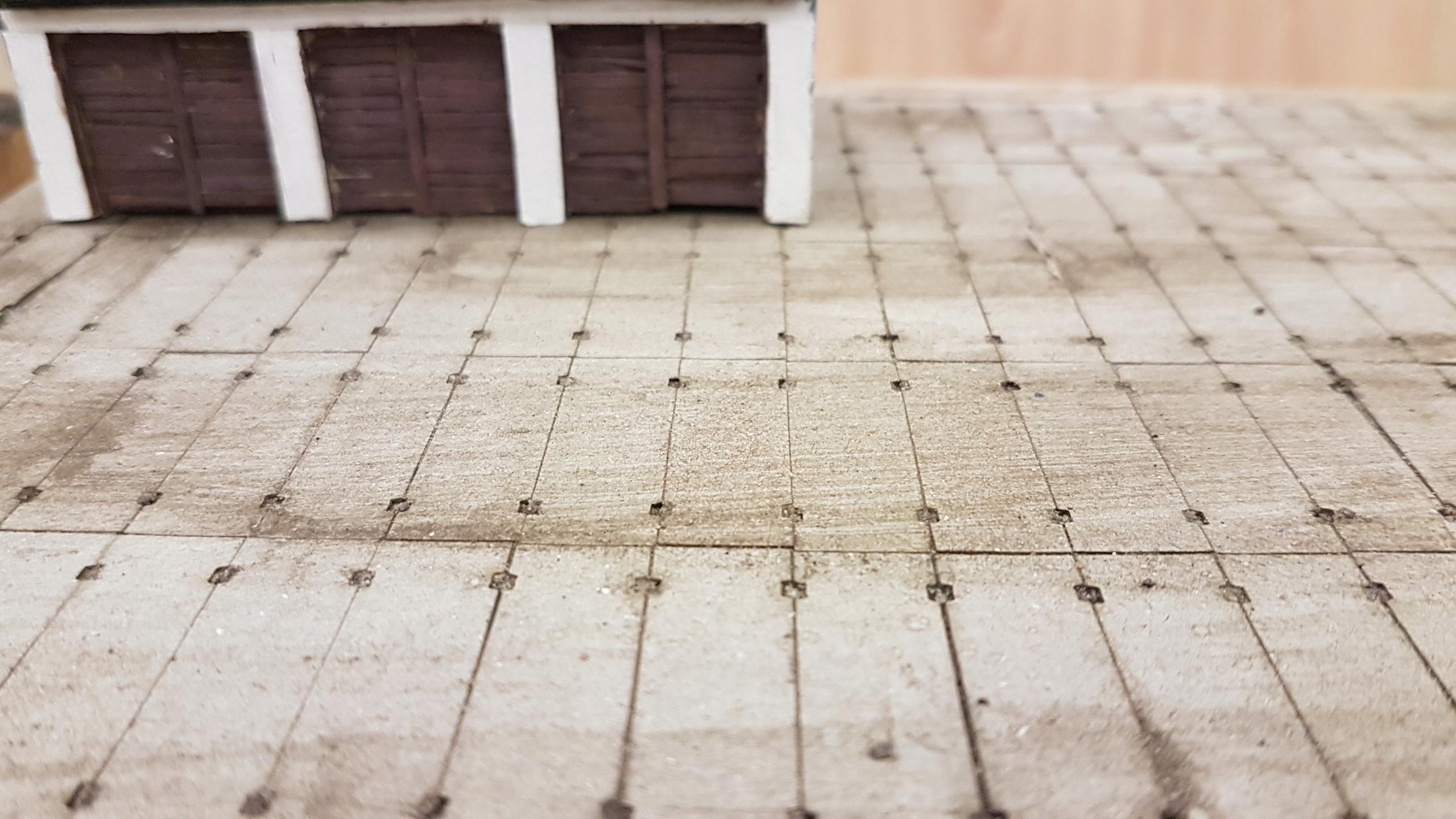 Płyta drogowa betonowa 100x300 skala H0 128 sztuk