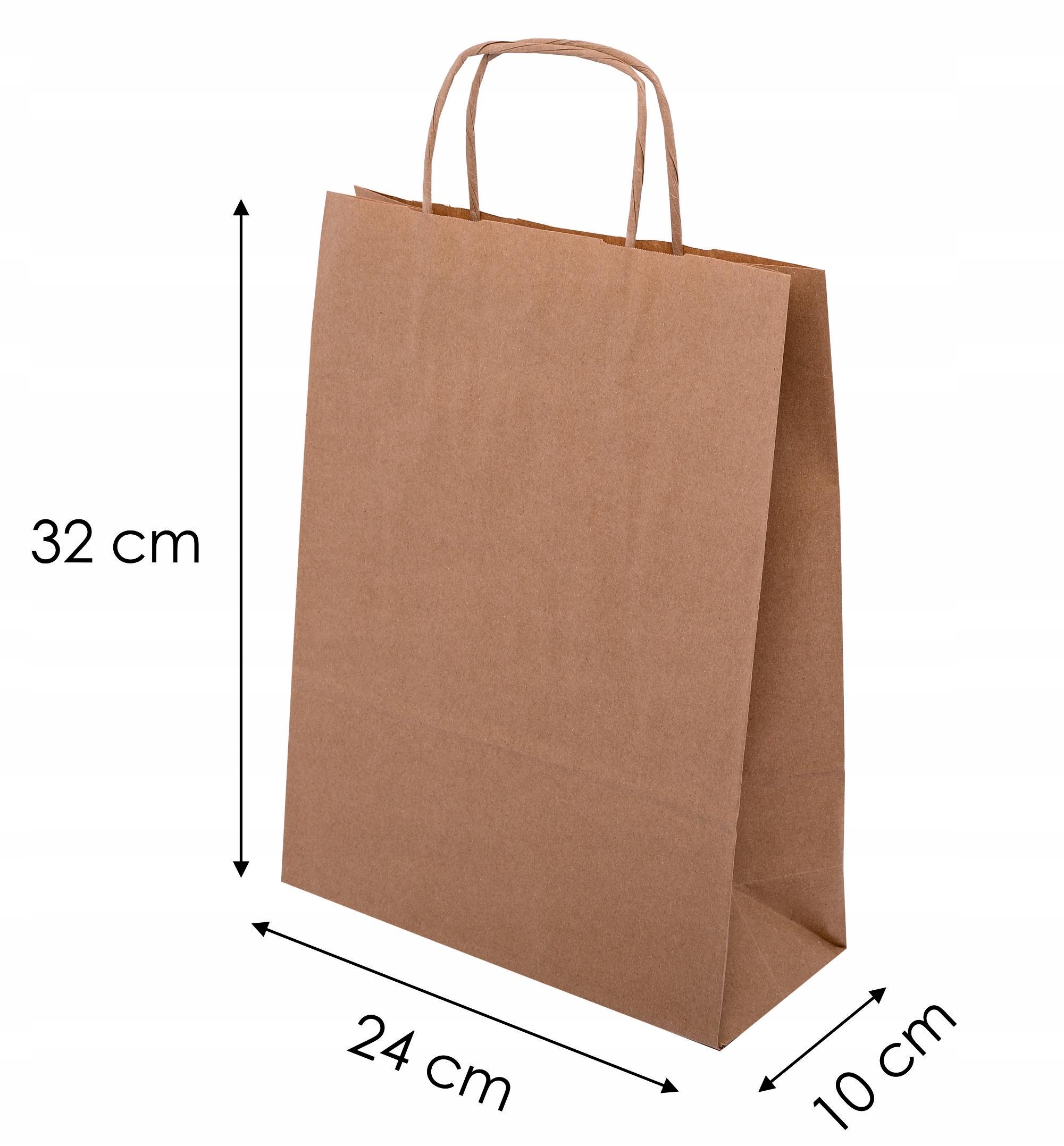Torba Papierowa Ekologiczna 240x100x320 Torby Eko 8421178144