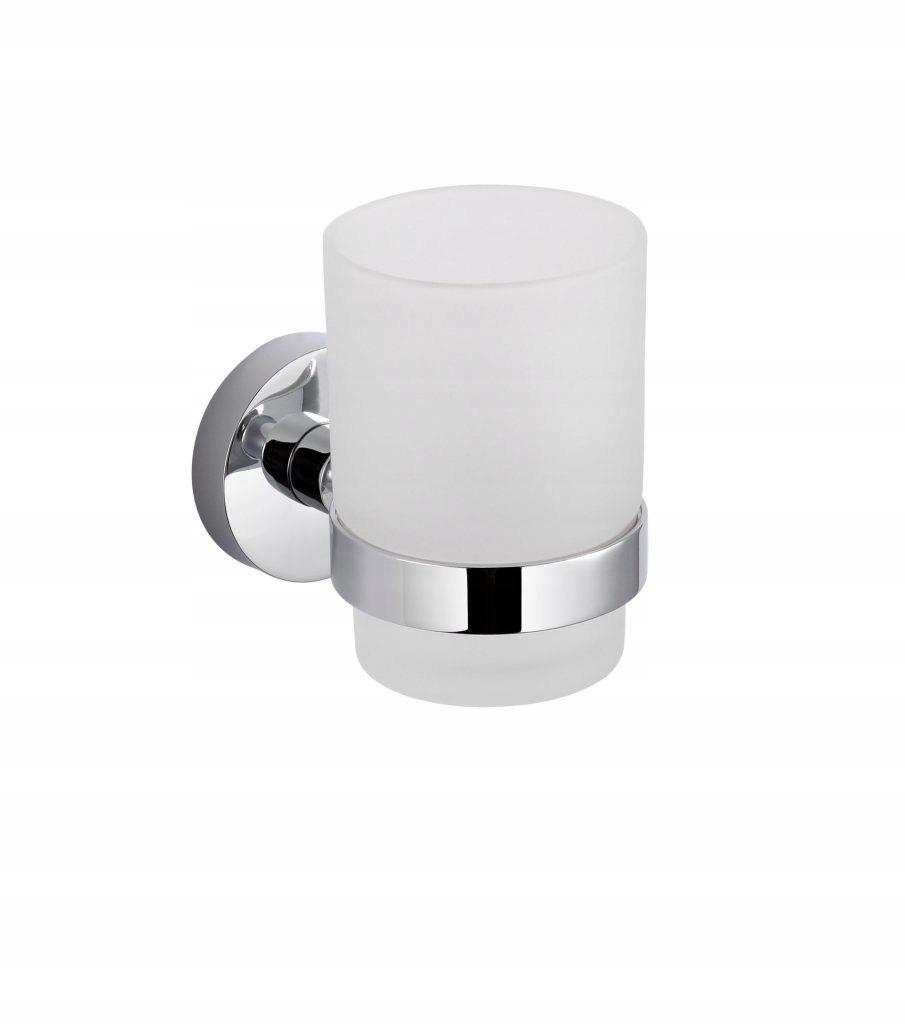 ŁÓDŹ Kúpeľňový pohár + madlo Stella CLASSIC chróm