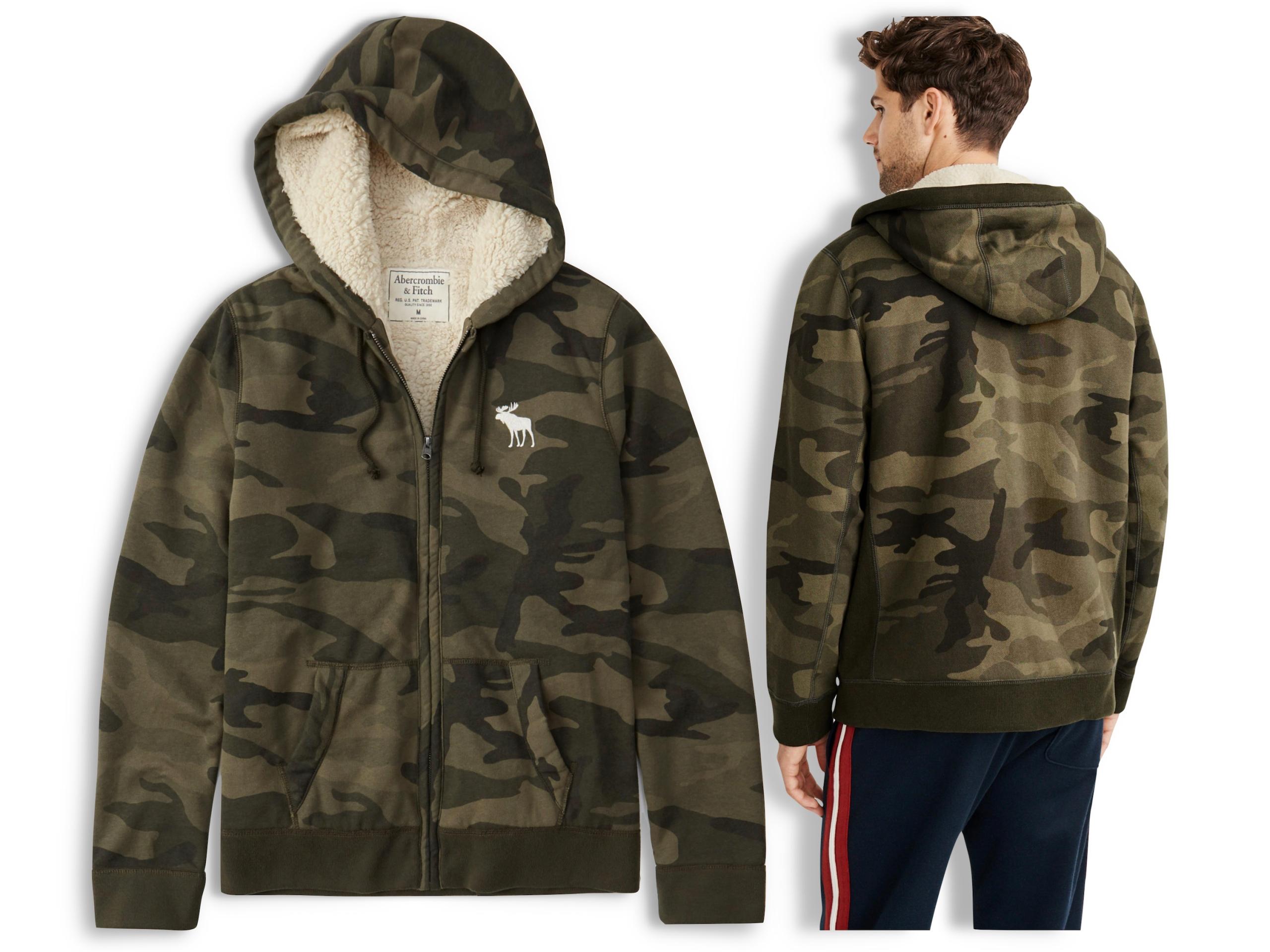 ABERCROMBIE Толстовка Hollister Sherpa Fur US L