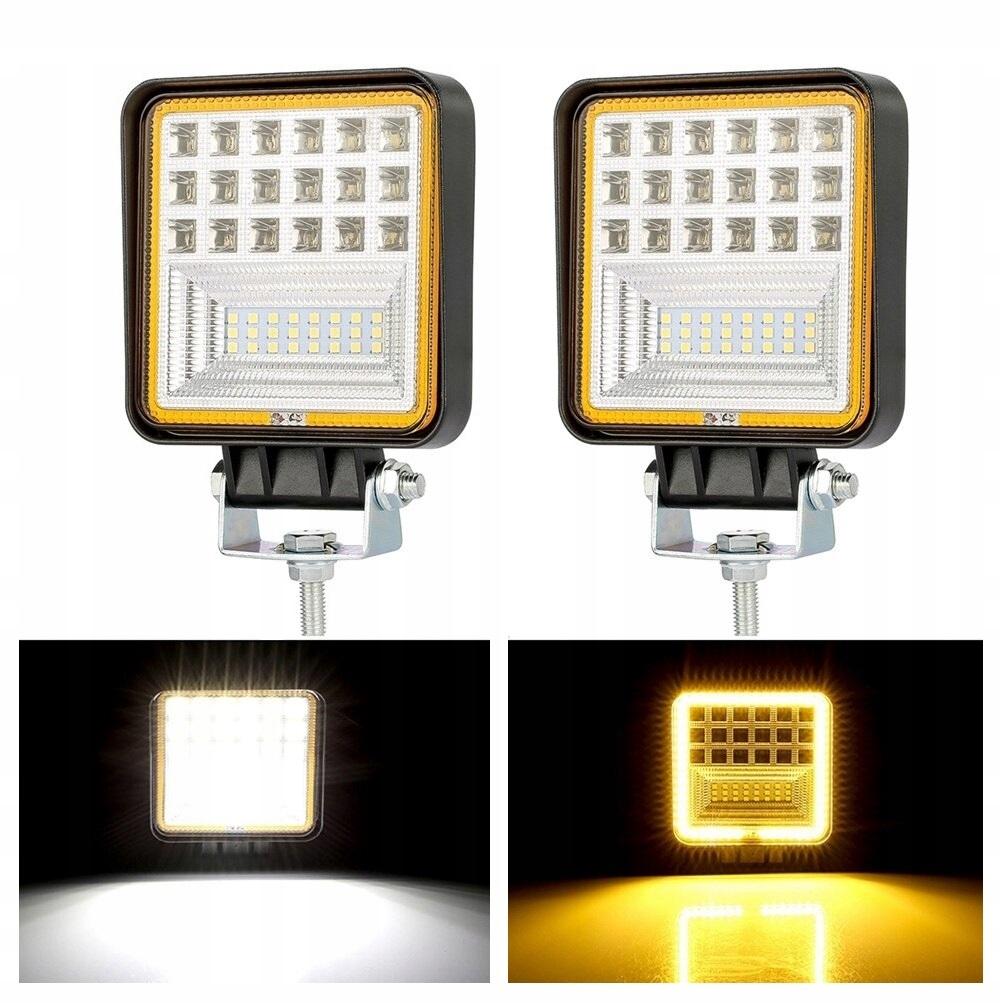Комплект 2 x Галоген светодиодная рабочая лампа LED 126W (9-32V)