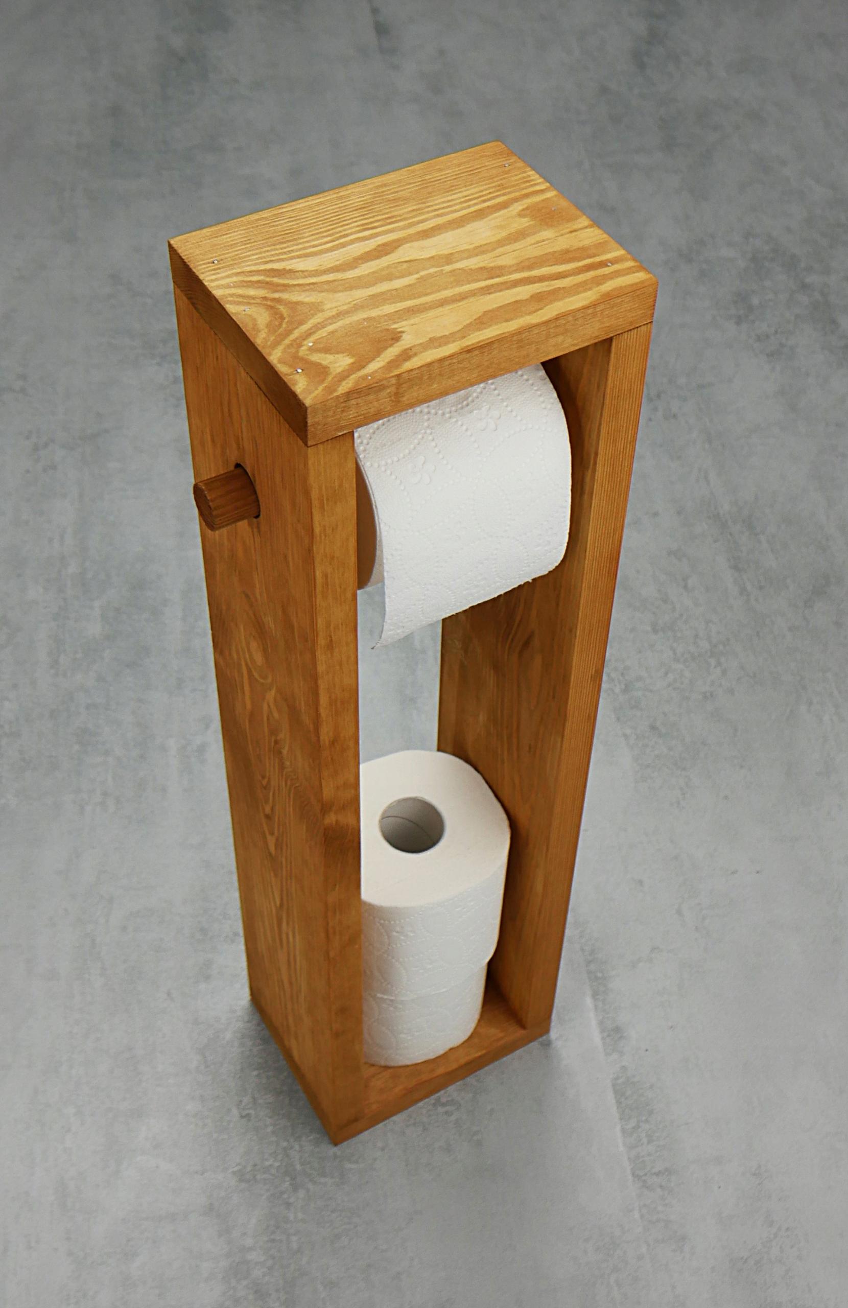 Drevené toaletného papiera držiak organizér