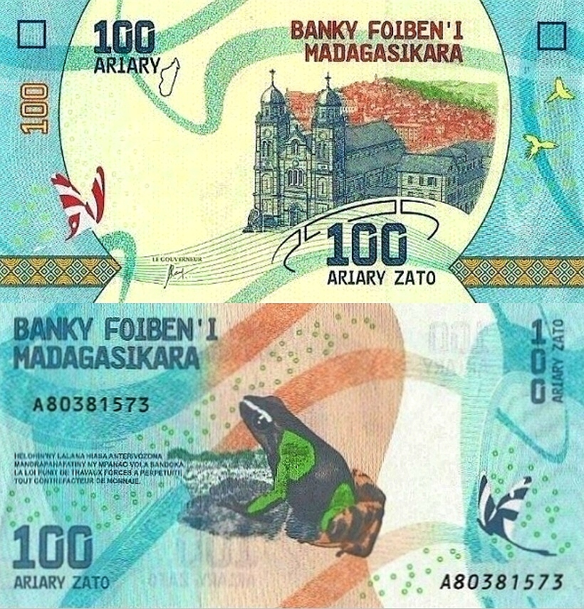 # Мадагаскар - 100 АРИАРИ - 2017 - P-НОВЫЙ - UNC