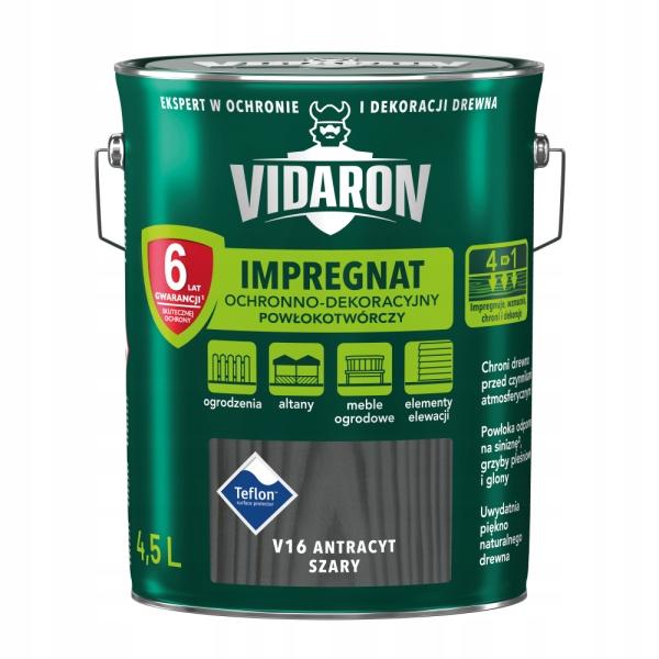 VIDARON Импрегнат декоративный 4.5 Л, Антрацит-Серый